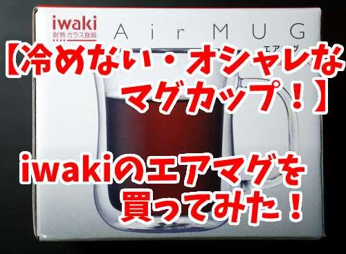冷めないオシャレなマグカップ!iwakiのAirマグを買ってみた!ステンレス製よりオススメ!