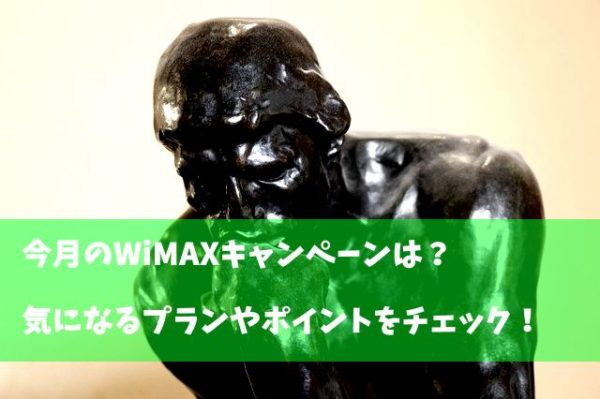 wimax キャンペーン 比較