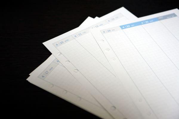 システム手帳 リフィル 自作