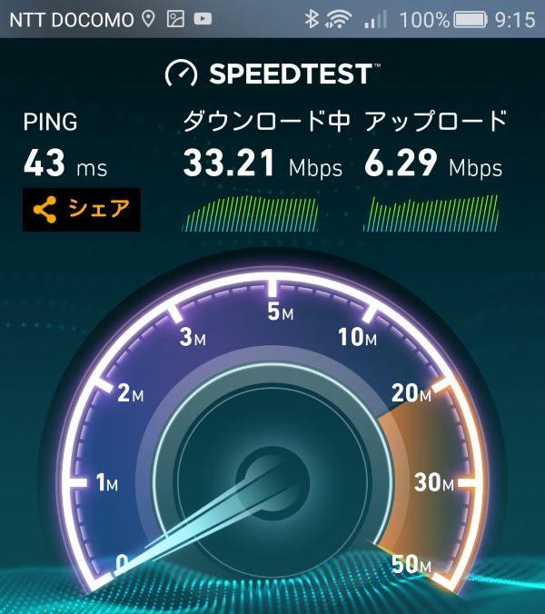 WiMAX2+ wifi 強さ 計測 W04