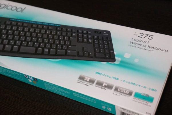 k275 ロジクール ワイヤレスキーボード 購入 レビュー k270 比較