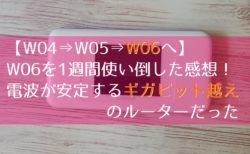WiMAX2+ W06 レビュー